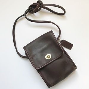 Vintage Coach Scooter Swingpack Bag - 9893